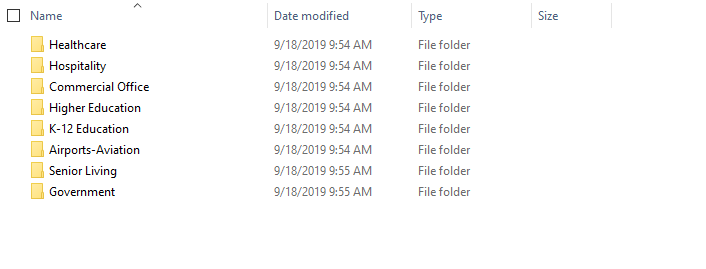 organized folders of project imagees